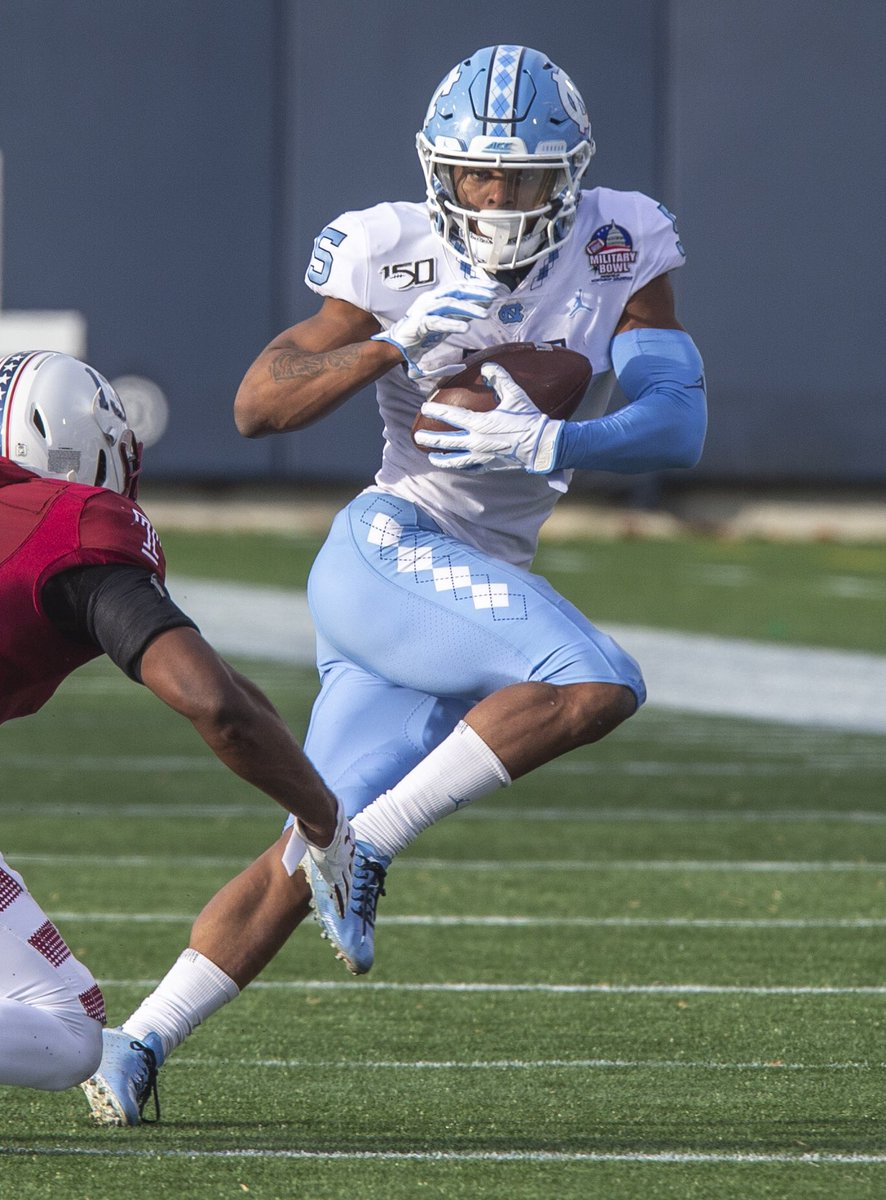 The #Bills have held a Zoom meeting with UNC WR Dazz Newsome and plan to be at his pro day, per @RyanTalbotBills. #BillsMafia