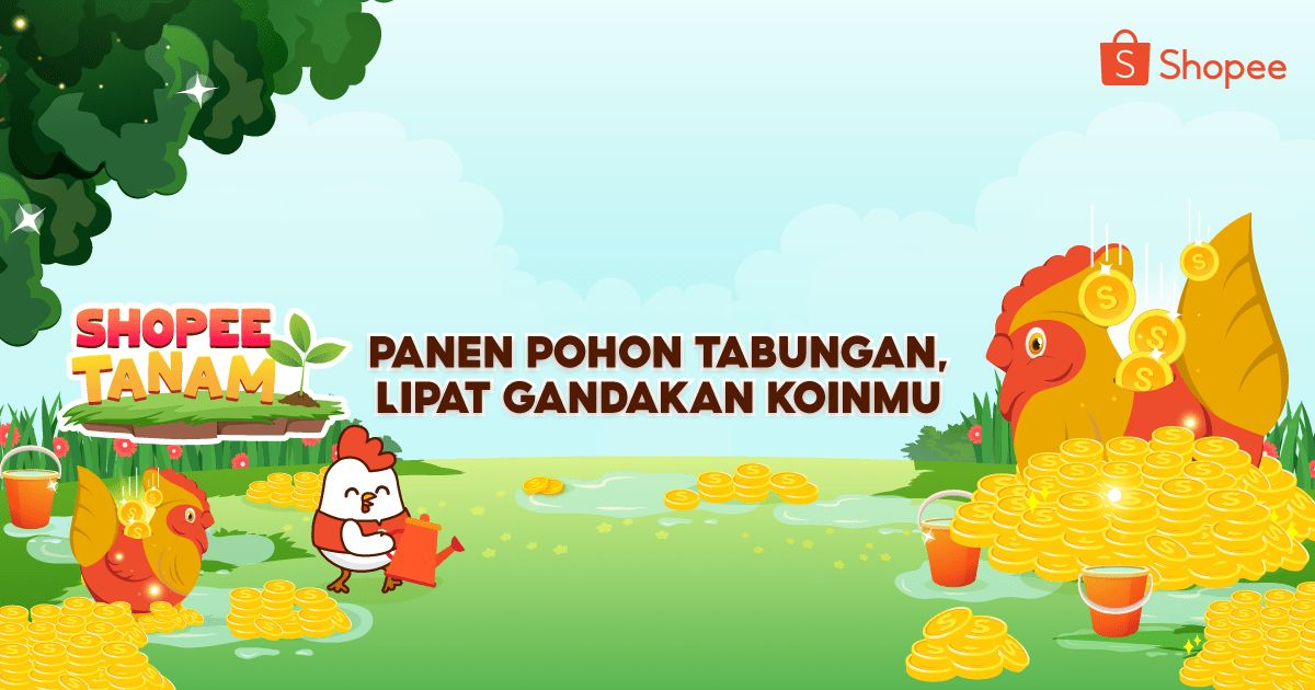 Main Shopee Tanam dan Panen Pohon Tabungan. Ayo lipat gandakan koinmu! https://t.co/ZU3HVQ7wM0 https://t.co/Xoe313N4IK