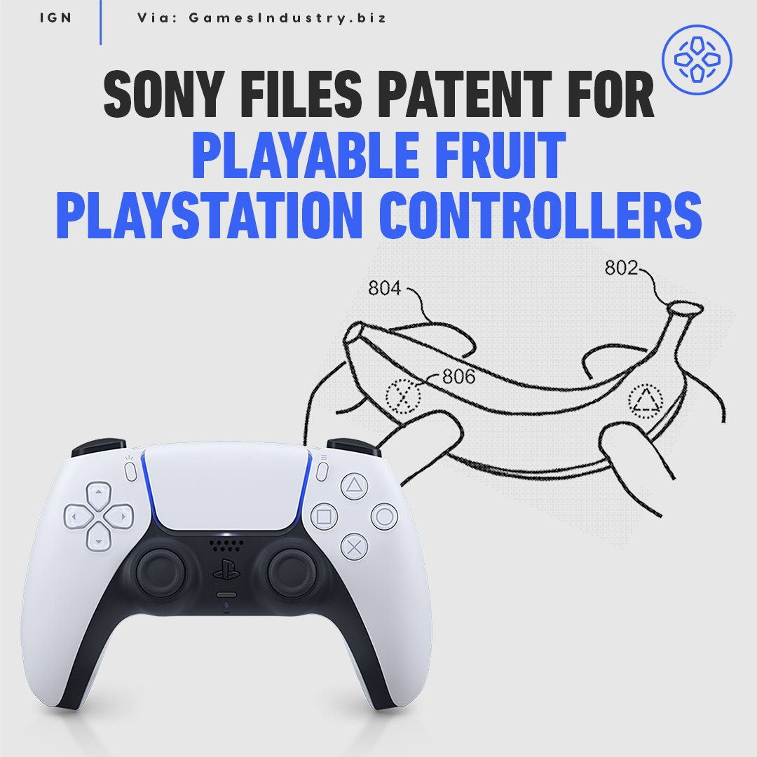 Sony has patented technology that would allow players to turn household objects, like fruit, into PlayStation controllers.