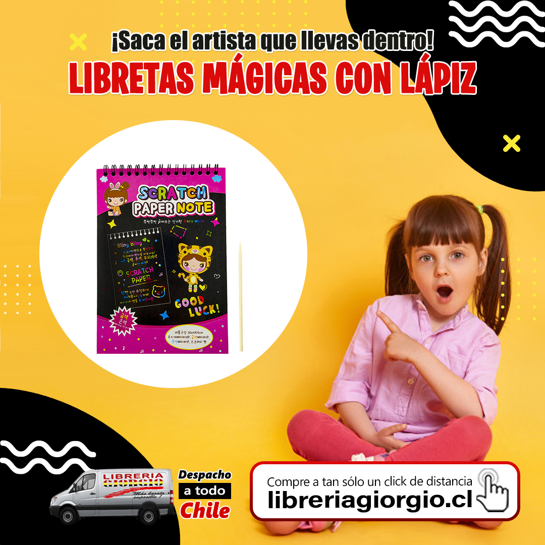 Visítenos en . COMPRE ONLINE seleccionando Librería Giorgio Camilo Henríquez, con despacho a domicilio a todo Chile 🚛🇨🇱 Compre en  #Libretas #mágicas #artista #love #instagood #beautiful #happy #cute #art #girl #fun #style #smile