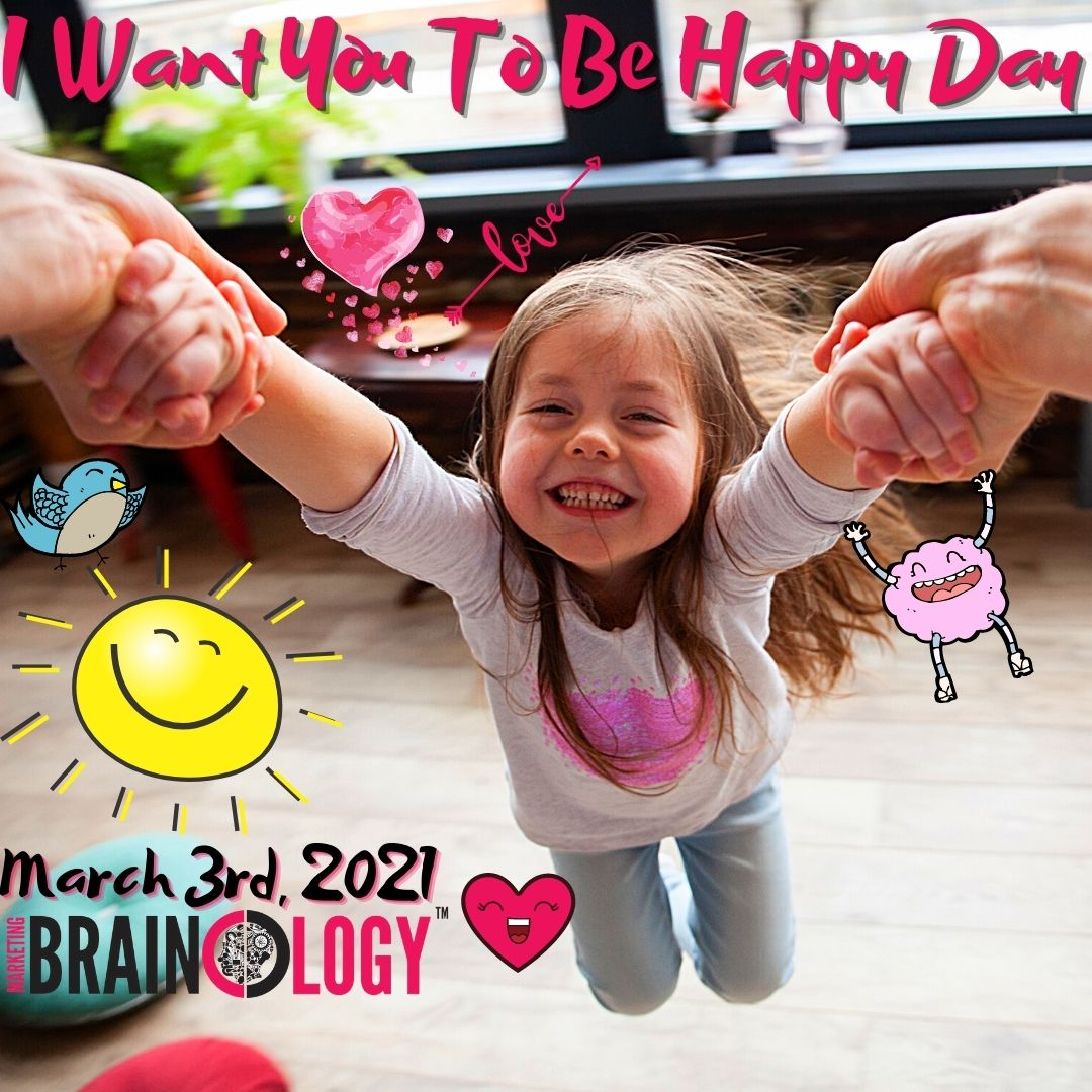 Today 🗓️ is about doing things 👐to make others happy 😃 This is a great way to strengthen 💪 connections and spread positively 🌈  #MarketingBrainology #IWantYouToBeHappyDay #IWantYouToBeHappy #Happiness #SpreadHappiness #Happy #MakingOthersHappy #Positivity #Connections #Bonds
