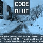 Image for the Tweet beginning: .@NYCDHS's Code Blue is in