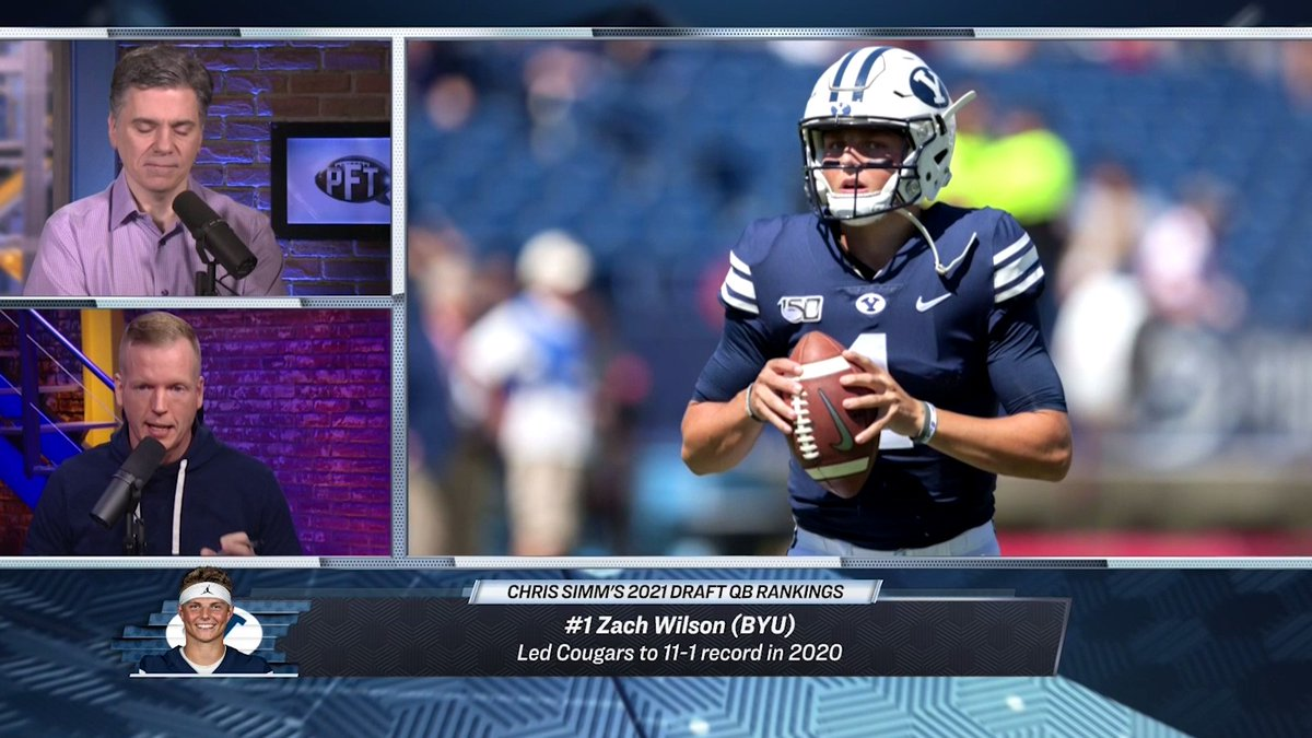 '@CSimmsQB loves Trevor Lawrence, but explains why he'd pick BYU's Zach Wilson over him in the draft.  Full 2021 NFL Draft QB rankings from Chris Simms here: