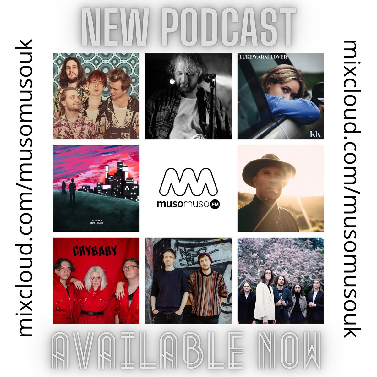 This week's #musomusofm new music podcast is available to stream at   @chaysnowdon  Robin Hann @kkittermaster  @STORM_CZN  @PostMalone  @ArcticMonkeys  @BlossomsBand  @daviefurey  @wearetashuk   PLEASE RETWEET  #podcast #NewMusic #musicblog #introducing