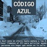 Image for the Tweet beginning: .@NYCDHS #CódigoAzul está en efecto