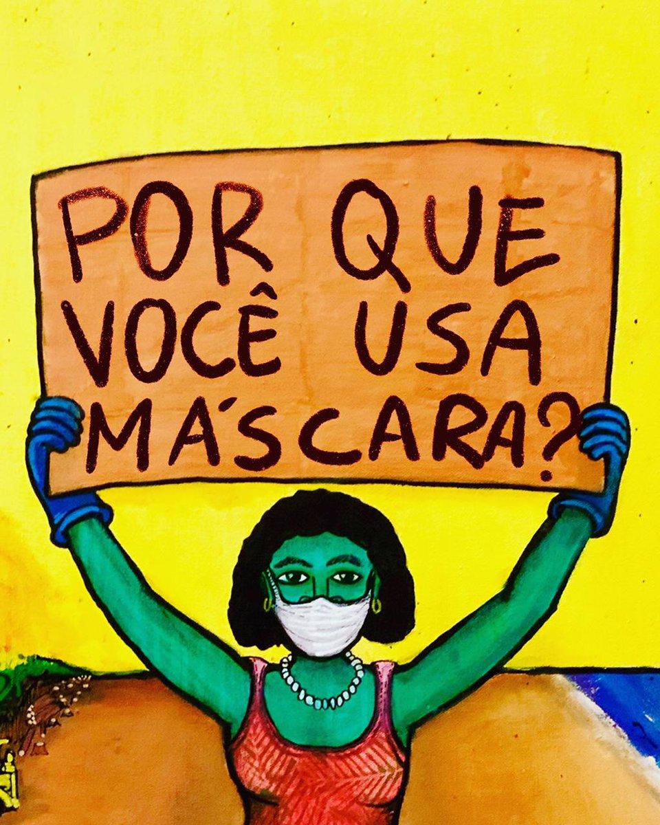 #RT @QuebrandoOTabu: Máscara é ❤️. Porque você usa?  Conta pra gente nos comentários. A sua resposta pode virar arte! #euusomascaraporque   Inclua no seu comentário seu nome, idade, profissão e onde vive - pro @Mundano dar o crédito se vc for escolhido! … https://t.co/MSnktx09b9