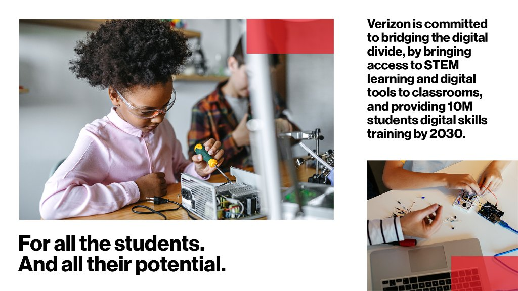 As learning goes online, so do teachers & schools. That's why we're giving students & educators more tech-centered tools to support hybrid learning, promote critical thinking, & bring STEM opportunities to every classroom. Find out more at  #CitizenVerizon
