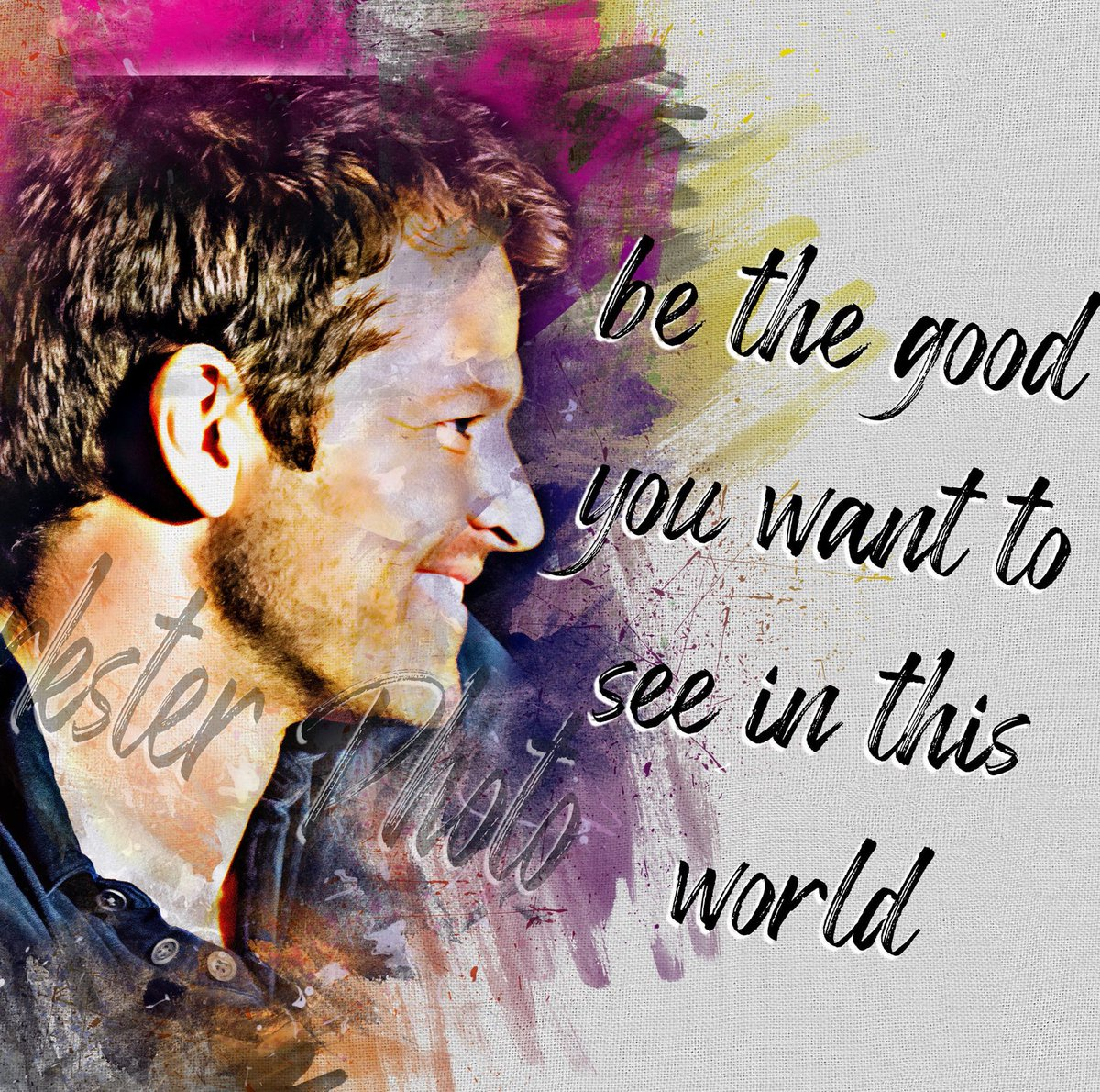 """Excited to share this item from my #etsy shop: Misha Collins """"Be the Good"""" print #design #supernatural #mishacollins"""