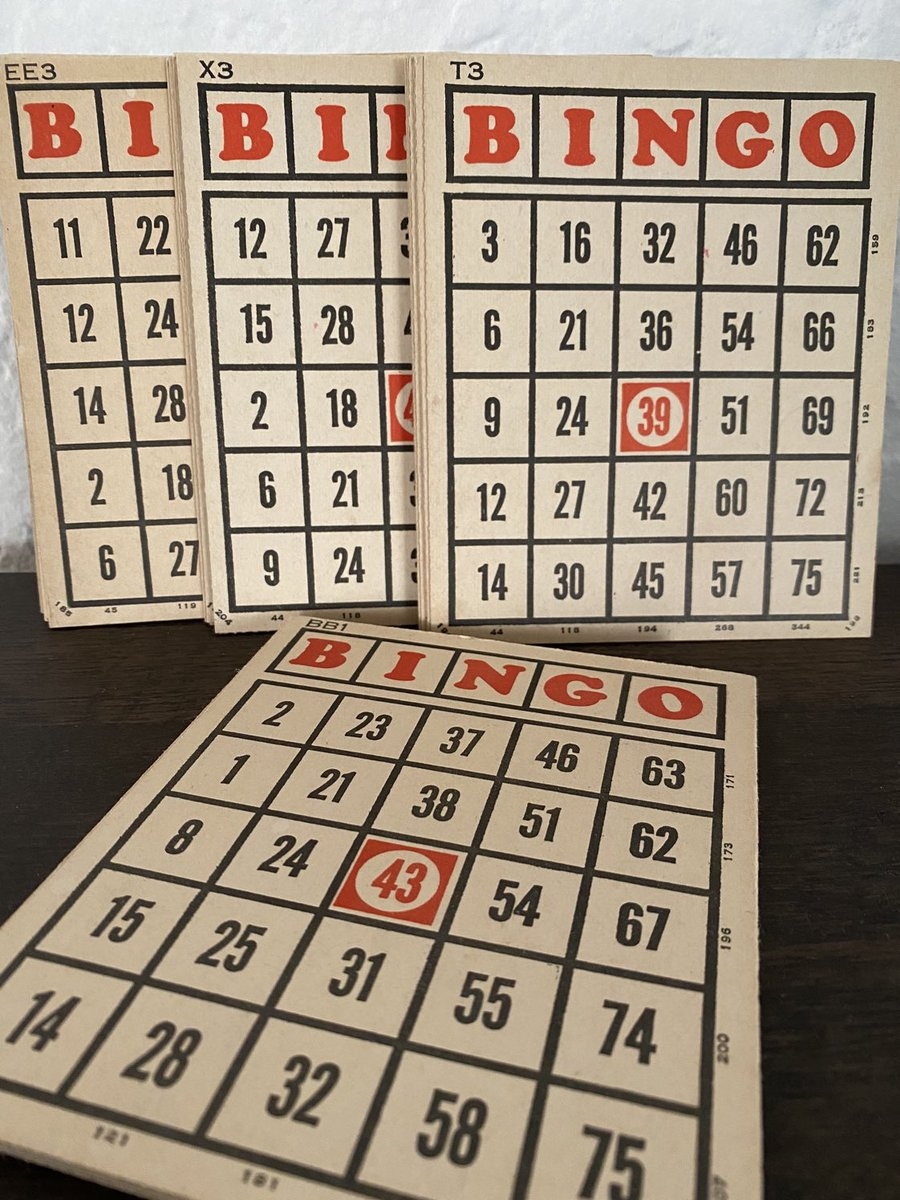 Excited to share this item from my #etsy shop: Vintage Bingo Cards | Cardboard Bingo Cards | Vintage Crafting Cards