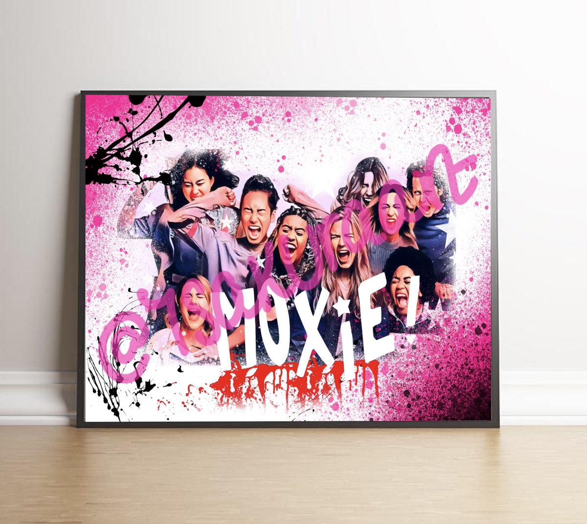 I'm obsessed with #Moxie so I had to create some prints! Let me know what you think and please like/retweet it would mean a lot🤍  Available here:   #moxie #moxiegirlsfightback #josephinelangford @smrtgrls @netflix #netflix #etsy #ShopSmall #rebelgirl