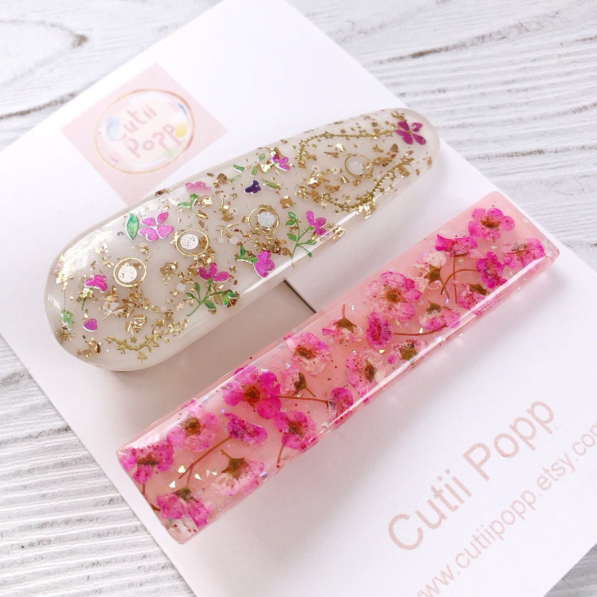 Excited to share the latest addition to my #etsy shop: Kawaii Dried Flower Hair Pin Set Floral Resin Hair Pin Hair Clip Floral Hair Accessories Easter Gift For Her