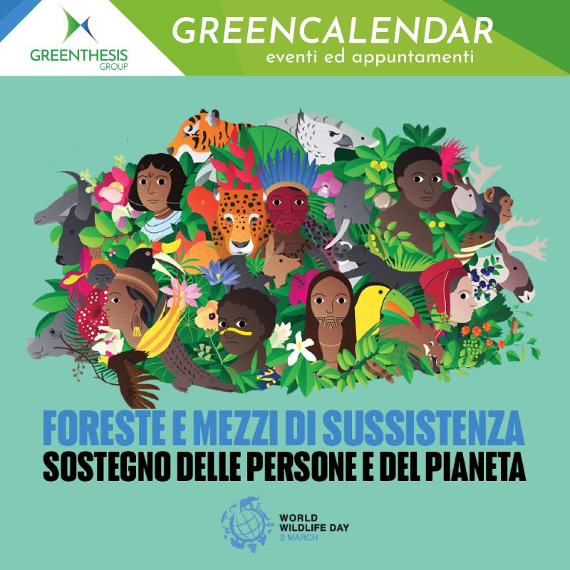 """📅 Il #3marzo si festeggia il #WorldWildlifeDay, una giornata per sensibilizzare sugli #animali e le #pianteselvatiche del mondo.  🌳 Il tema del 2021 è """"Foreste e mezzi di sussistenza: sostegno delle persone e del pianeta"""""""
