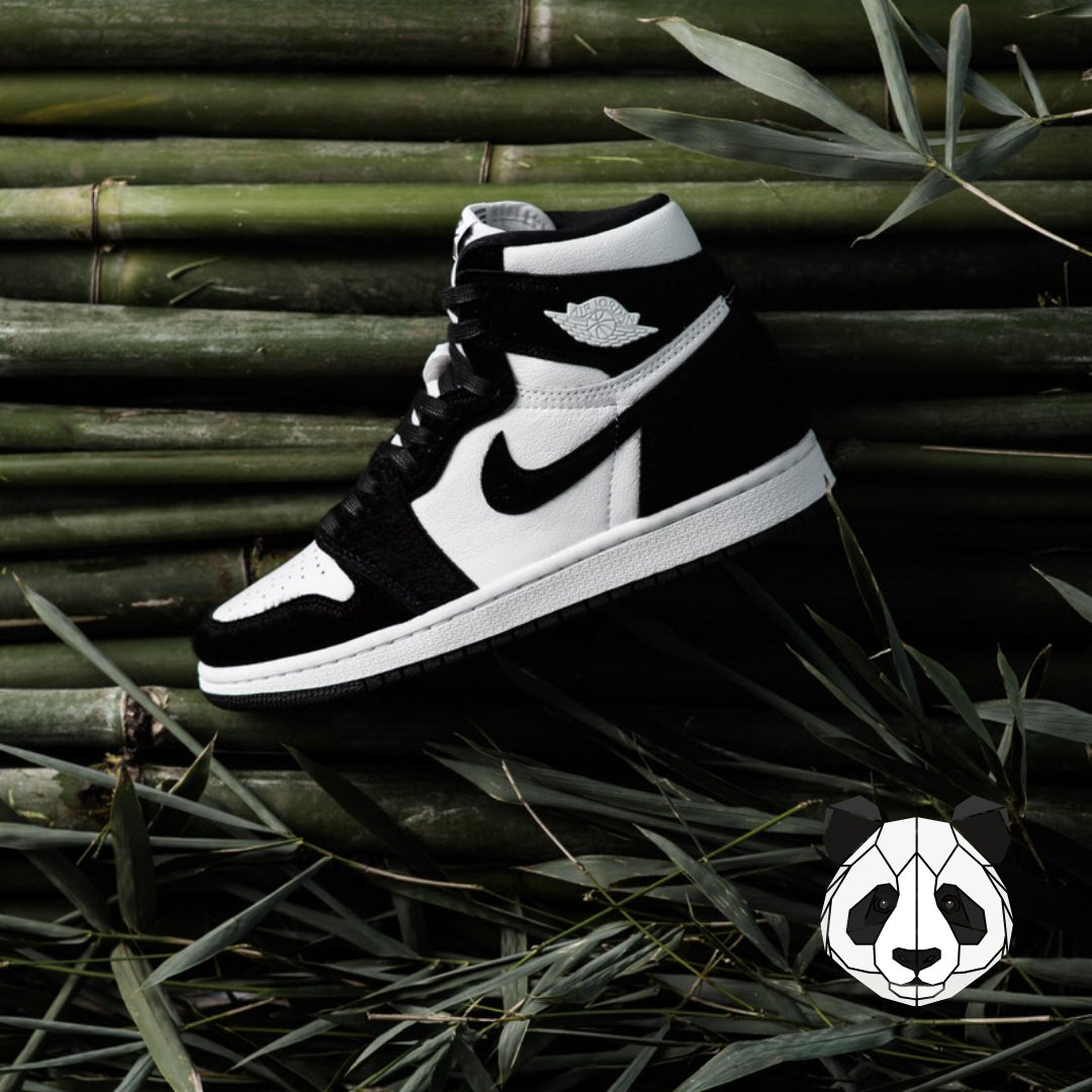 """Hey, did you know it's #WorldWildlifeDay today? 🐼 Well, we would like to to pay homage to our furry friends with some equally furry #sneakers: the #AirJordan1 High """"Panda"""".  It's a yay or nay?  #sneakerheads #streetwear #streetfashion #nikebyyou #AIRJORDAN #wildlifewednesday"""
