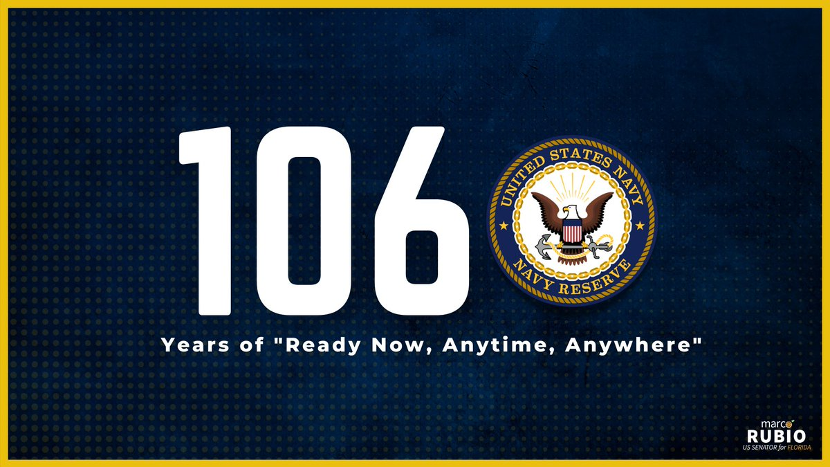 For more than 100 years, the U.S. @navy_reserve has stood at the ready to defend our nation against foreign and domestic threats. Today, we celebrate their bravery and commitment to our great nation.