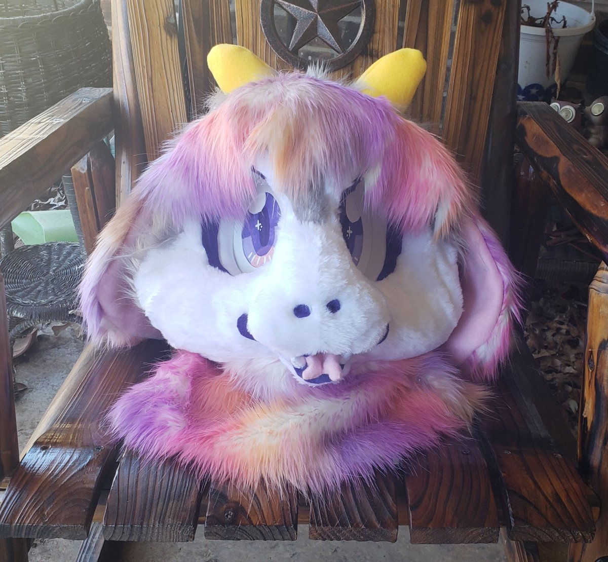 This boy is all done and waiting to go to his forever home!  #fursuiting #furryfandom #fursuitmaker #furry #fursuit