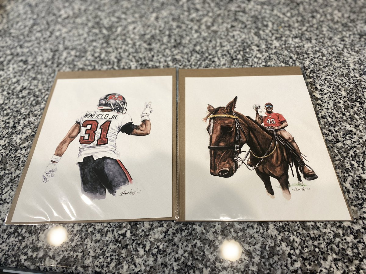 @mikenguyenart @DevinWhite__40 @AntoineWJr11 Thanks for these buddy!! Putting them up in the studio soon. 😍 #gobucs #SBLV #SuperBowlLV #SuperBowl