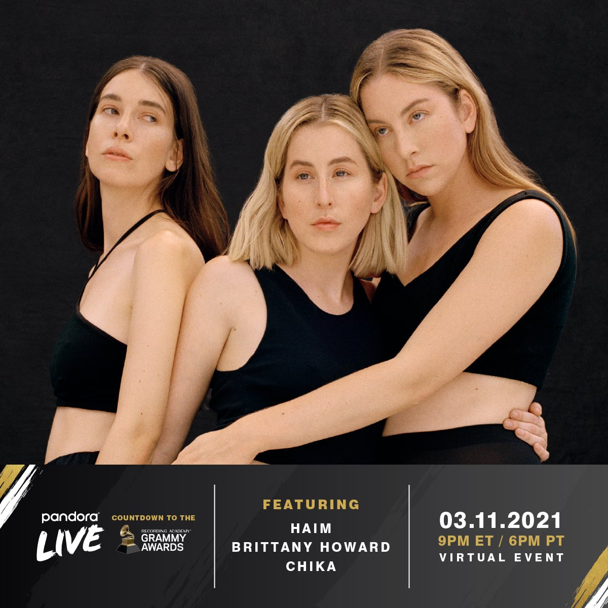 we're performing at the @pandoramusic @RecordingAcad event celebrating the #GRAMMYs on 3/11 ft @oranicuhhand@blkfootwhtfoot!! RSVP for free here:  #PandoraLive