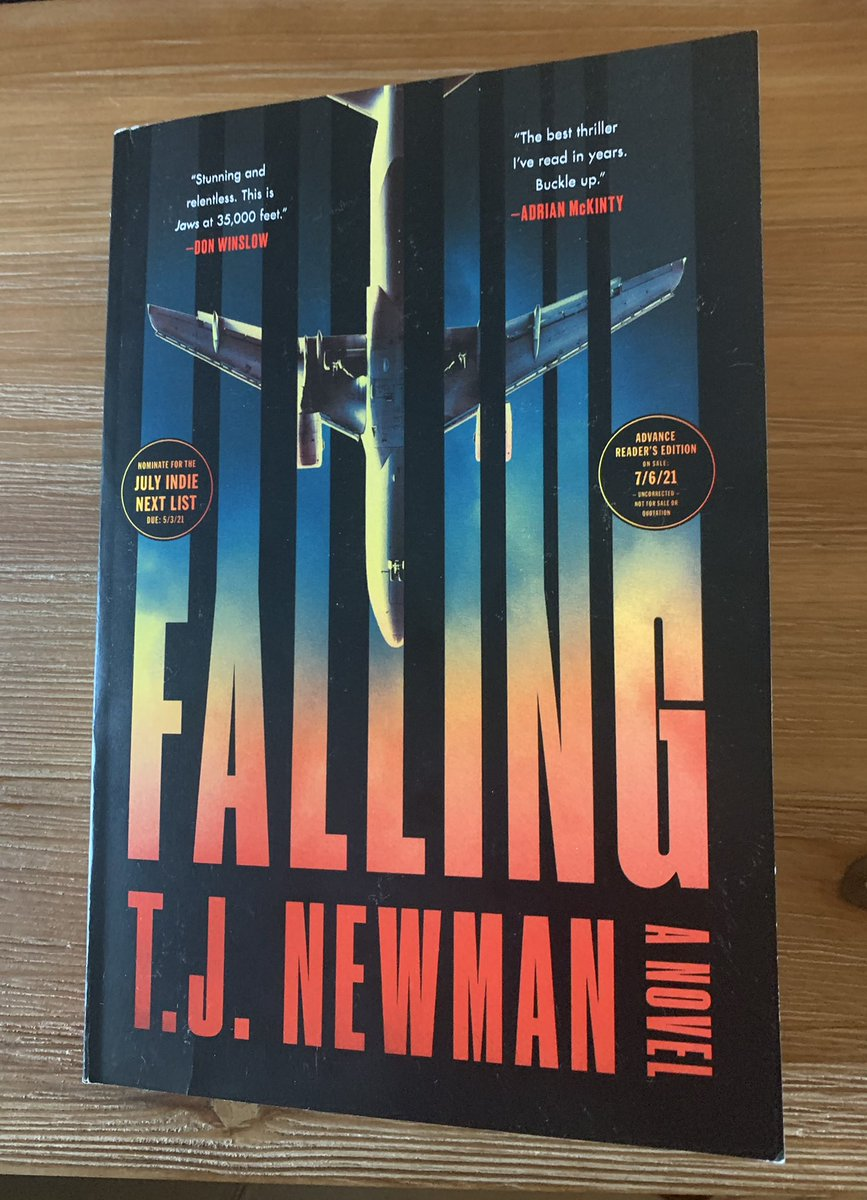 @T_J_Newman's debut thriller FALLING is a rocket ride of white-knuckle tension. The opening chapter knocked me flat on my back and I didn't catch my breath until the thrilling finish. Circle 7/9 on your calendar now-FALLING is the summer's big blockbuster. I'm never flying again! https://t.co/eHmqMhViN6
