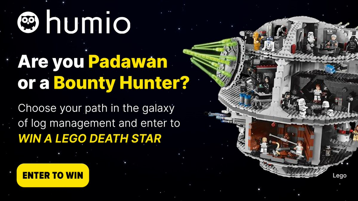 What if you used log management insights like you'd use the force? Find out which Star Wars character you'd be and enter to win a LEGO Death Star by visiting our website and clicking on the #DeathStar.   #StarWars #LogManagement #GiveAway