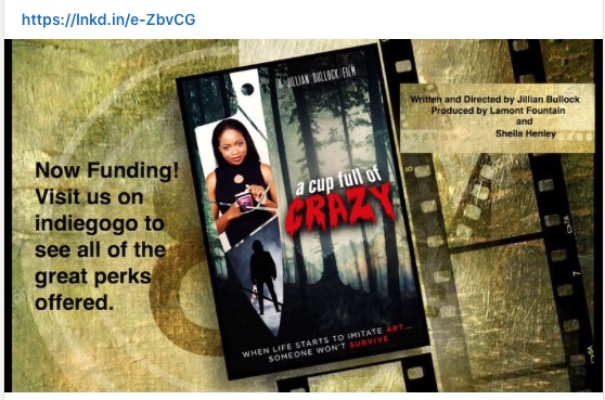 We need your support in making this film.. Here is the link to support  #PsychologicalThriller #Film #Indiegogo #SupportIndieFilm #ACupFullOfCrazy #Jacinth #JillianBullock #Taeabo #mma  #boxing @JillianBullock @SheilaHenley77 #MentalHealthMatters