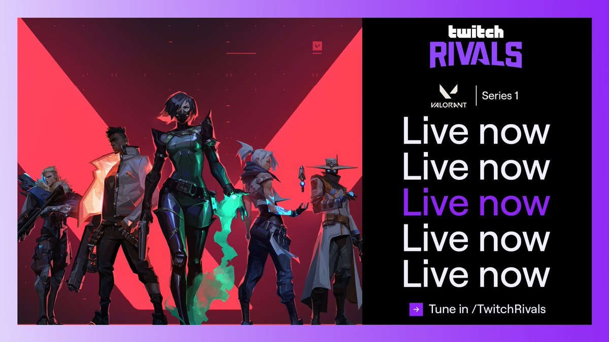 We're back for Week 2 of the Twitch Rivals: @PlayVALORANT Series 1  Who's making the playoffs? Find out with @RivingtonThe3rd, @VellyCasts & @WavePunkRL.  Watch now: