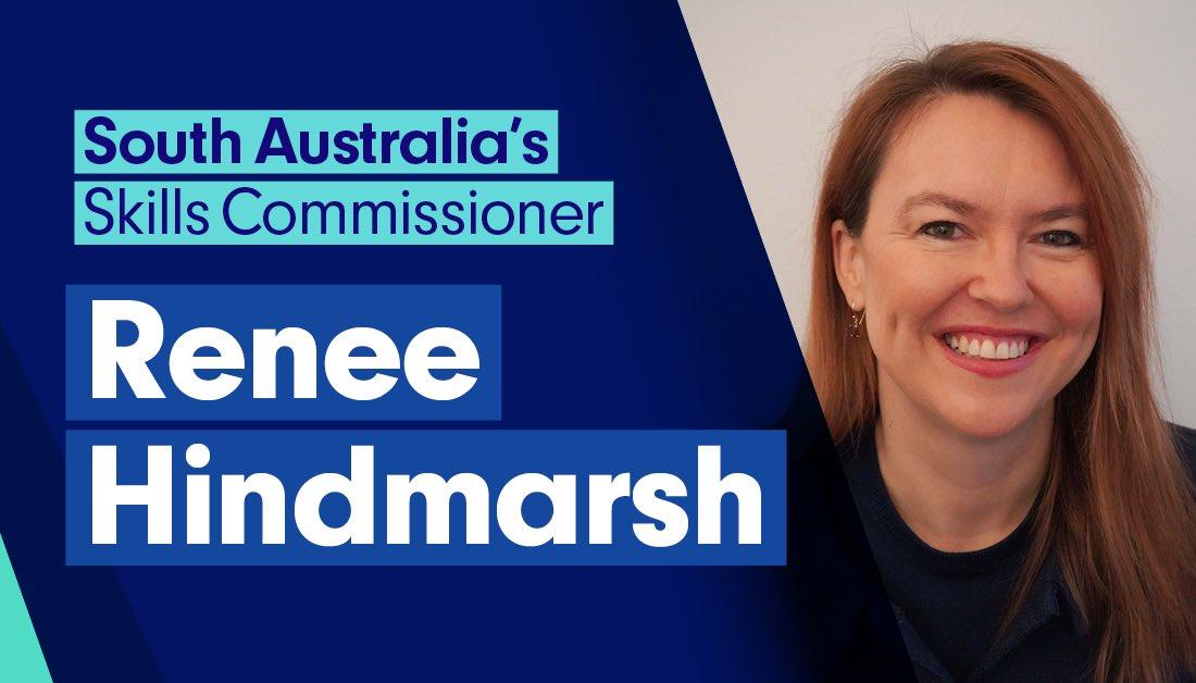 Pleased to announce South Australia's first Skills Commissioner @Renee_Hindmarsh. She will lead the development of South Australia's Skills Commission, a keyamendment in theTraining& Skills Development (Miscellaneous) Amendment Act 2020 #SkillingSA @traininginSA @TSCommission https://t.co/GQGTQSpTAh