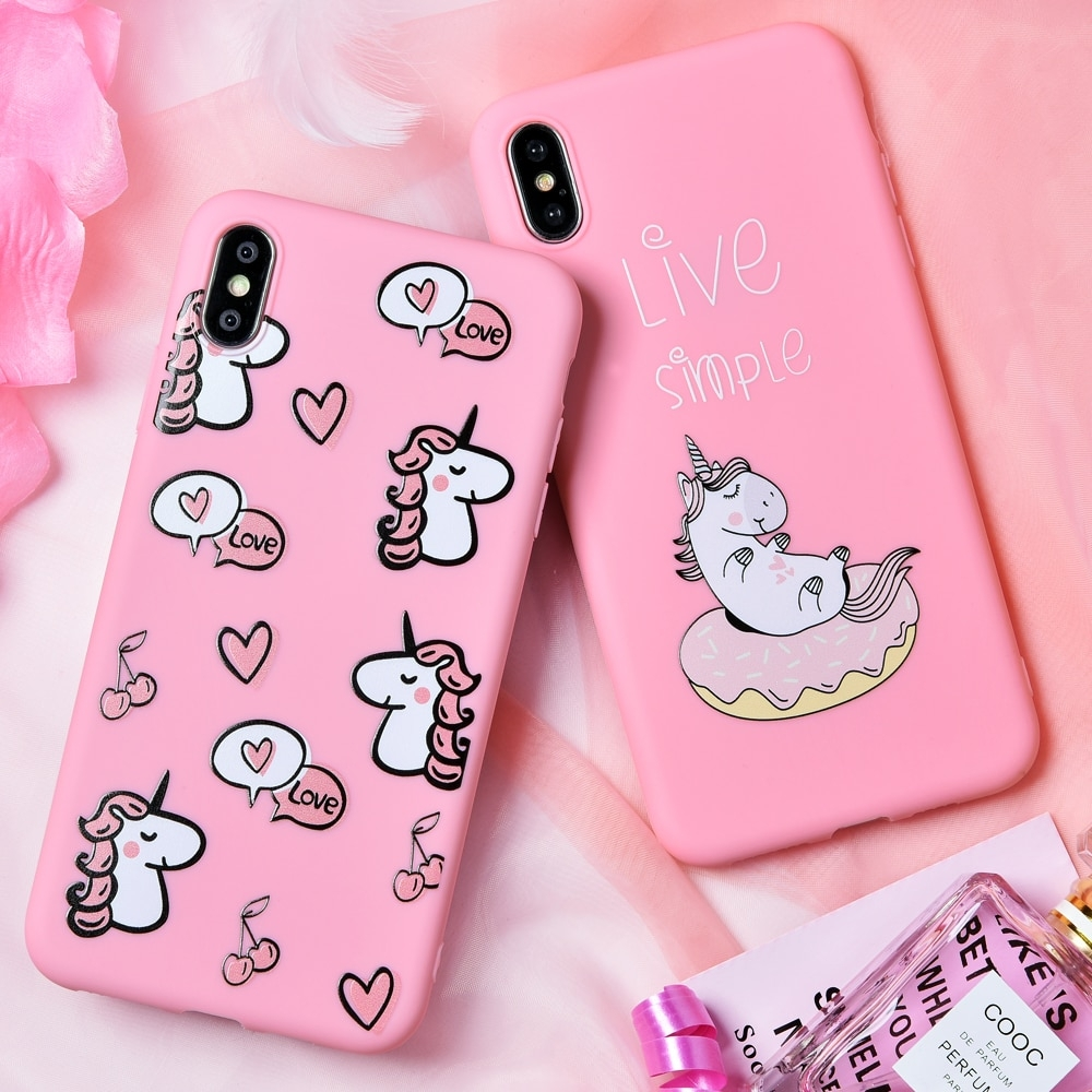#iphone #iphoneonly #iphonesia #iphoneography Cartoon Pink Soft Phone Case for iPhone