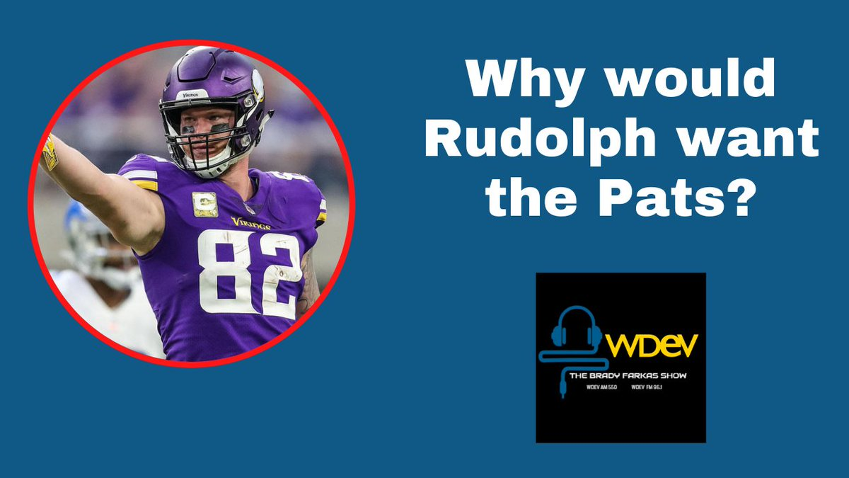 I get why the Patriots would be interested in FA TE Kyle Rudolph, but why would he be interested in them?  WATCH HERE as I discuss that and Julian Edelman.     #Patriots #NFL #KyleRudolph #JulianEdelman #Vikings