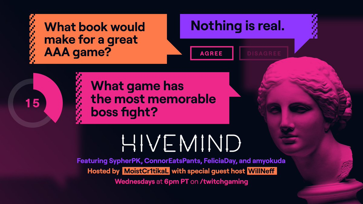 The difference between winning and losing on Hivemind is knowing what's in Chat's brain.  GLHF with that.  Starts today at 6pm PT at .