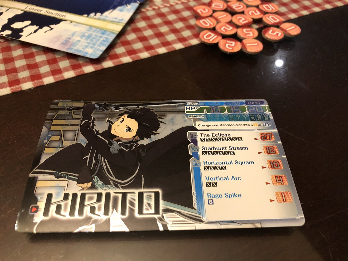Pictures from our plays of #SwordArtOnline The Sword of Fellows by @JapanimeGames and @ArclightGames Will you and your party clear this terrifying death game? #boardgame #boardgames #boardgamegeek #boardgamegeeks