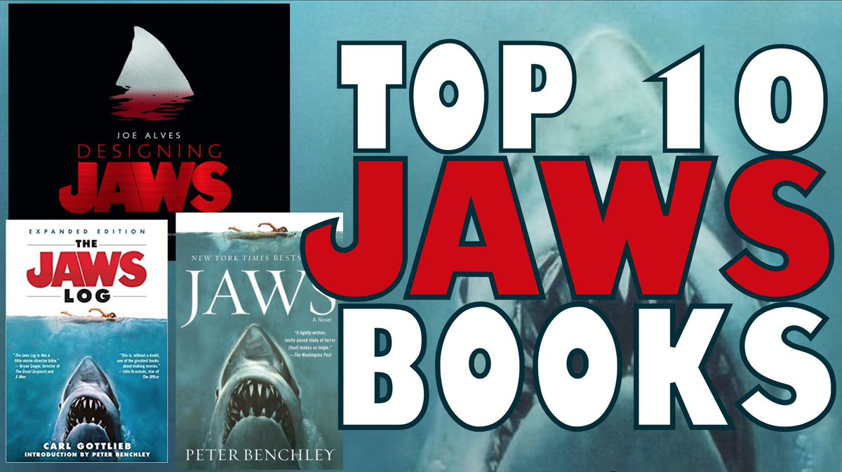 You're Gonna Need A Bigger Book Shelf!   Top 10 Jaws Books:    #Jaws #WorldBookDay #WorldBookDay2021
