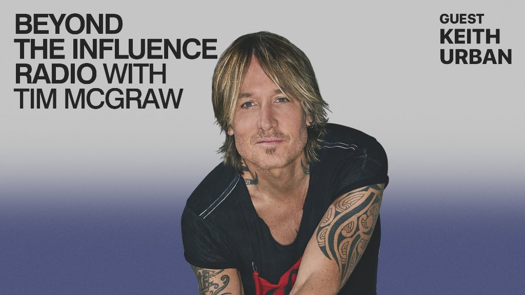 .@KeithUrban joins @TheTimMcGraw on a new episode of #BeyondTheInfluence.  Listen now on Apple Music Country: