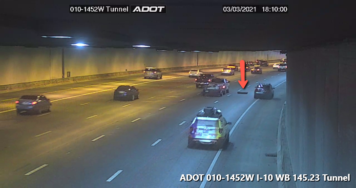 Image posted in Tweet made by Arizona DOT on March 4, 2021, 1:20 am UTC