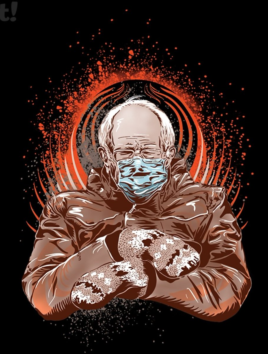 My #BernieSanders art is now available at @woot   Grab it while you can: Bernie's Aura - $15.00 - Free shipping   #Berniememes #Bernie #berniememe #berniesandersmittens #berniesmittens #FightFor15 #M4A #MedicareForAll #NotMeUs #dankmemes #art #artist