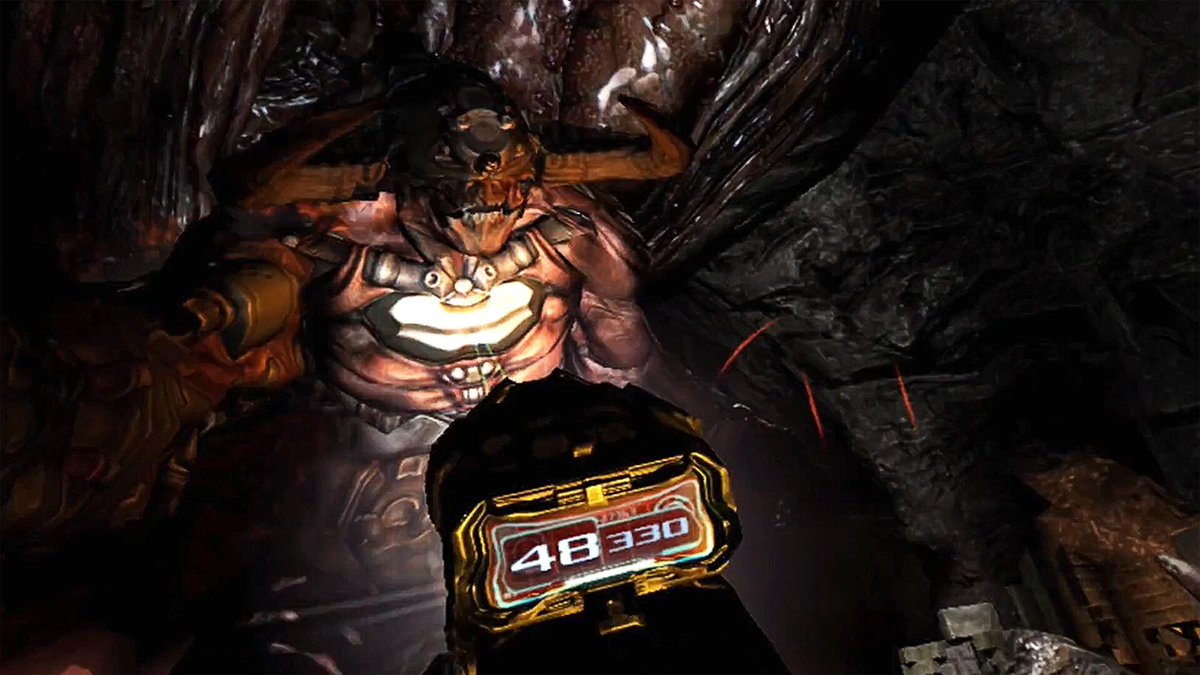 Stay immersed in the creepy corridors of Doom 3: VR Edition thanks to The Doom Marine's wrist-mounted display. Hits PS4 on March 29:  #PSVR