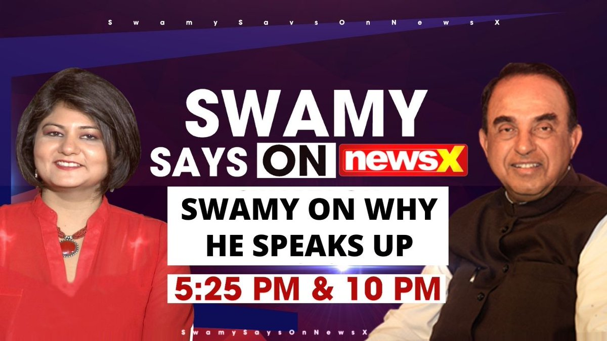 """""""WHY DR.SWAMY SPEAKS UP"""" Dr.Subramanian @Swamy39 in conversation with Priya Sahgal on #SwamySaysOnNewsX Of Wed 3rd March 2021🍀🍀 @jagdishshetty  Watch here 👇🏼"""