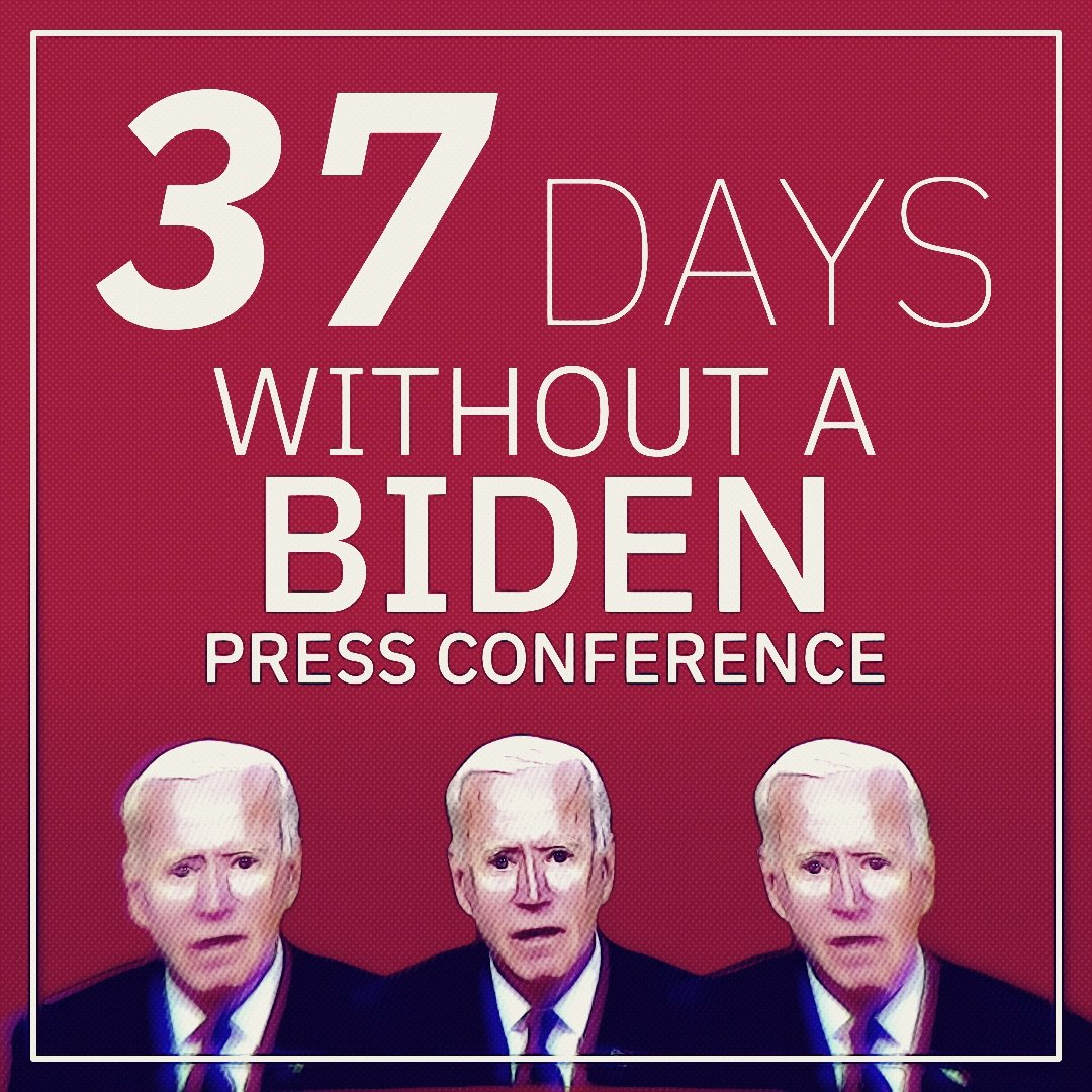 Joe Biden has set the record for the longest stretch at the start of a presidency without a press conference in at least 100 years.   Why is so he afraid to answer questions?