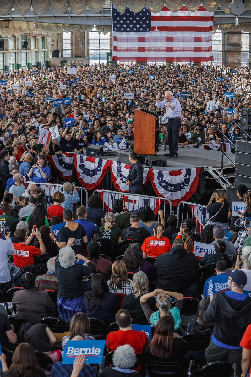 Exactly one year ago, @BernieSanders resoundingly won California.  We did good!  Now let's pass the agenda: #SinglePayer #HealthCare  #GreenNewDeal #WealthTax  #AffordableHousingforAll   We can do this California!