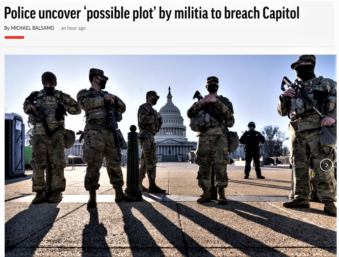 """#Capitol Police say they have uncovered intelligence of a """"possible plot"""" by a militia group to breach the #UnitedStates  Capitol on Thursday, nearly two months after a mob of supporters of Donald #Trump stormed the iconic building"""