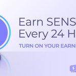 Image for the Tweet beginning: You can earn $SENSE token