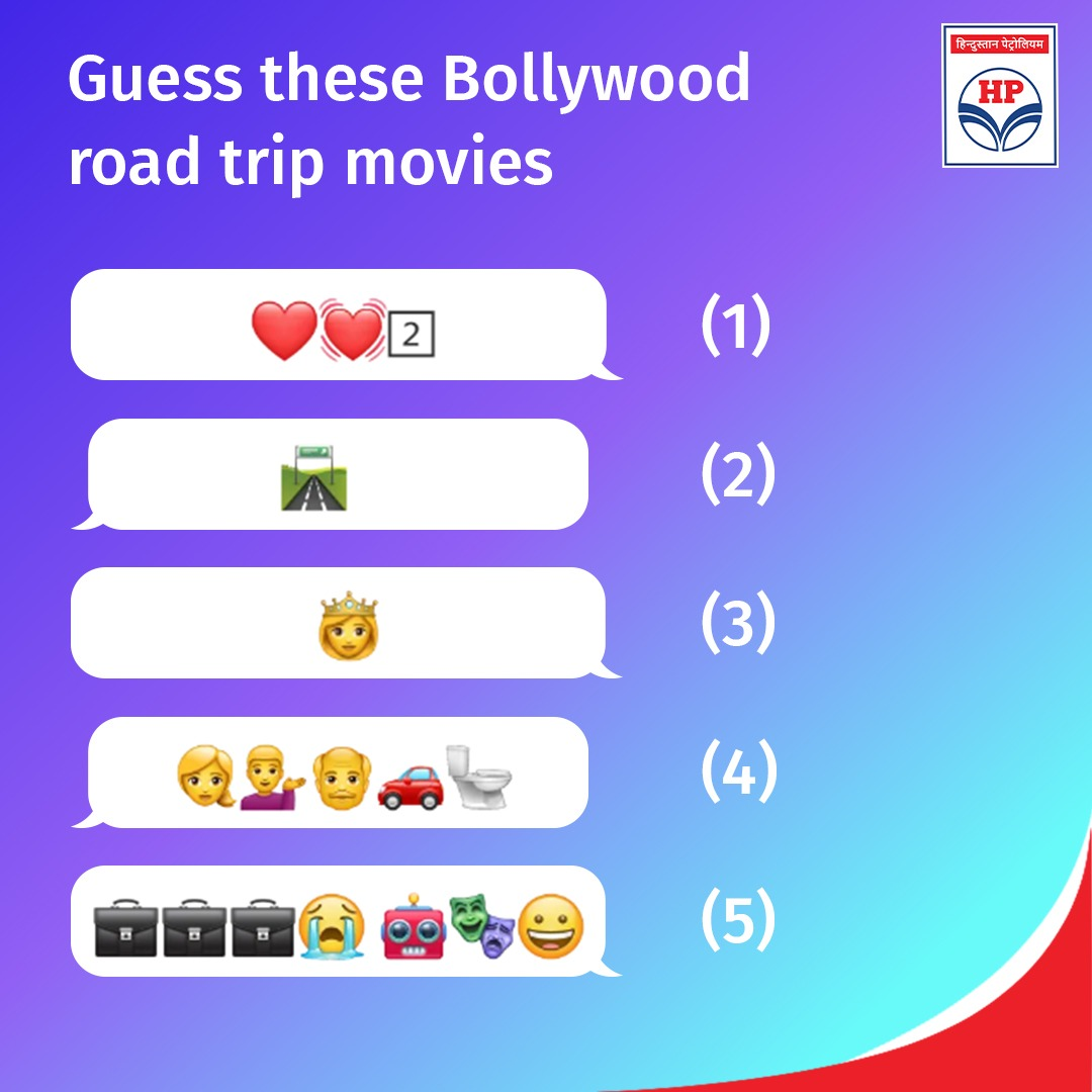 #RoadTrips, #films and #riddles is perhaps the best combo. All the #Bollywood buffs, you can't lose this test, poWer up.  #Quiz #Puzzle