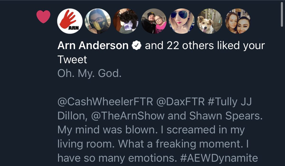 Arn Anderson just gave me a nod. Excuse me while I go remember how to breathe! 😱 #AEWDynamite #GOAT