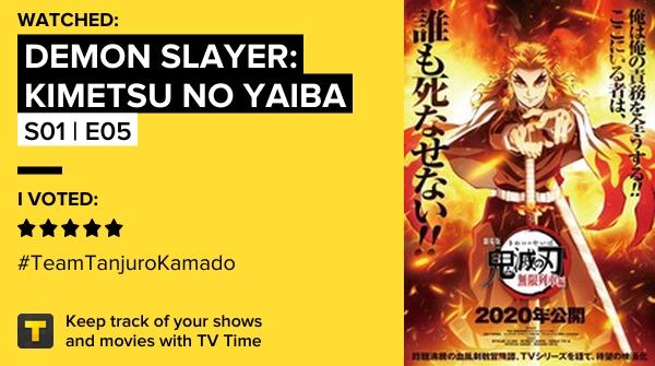 Watched Demon Slayer: Kimetsu no Yaiba S01 | E05 My Own Steel 9.88 #demonslayerkimetsunoyaiba   #tvtime