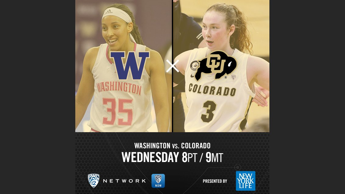 #Pac12WBB Tournament Day 1 nightcap is LIVE! 🌙  🏀 @UW_WBB vs. @CUBuffsWBB 📺 Pac-12 Network 📲   #BackThePac | @NewYorkLife