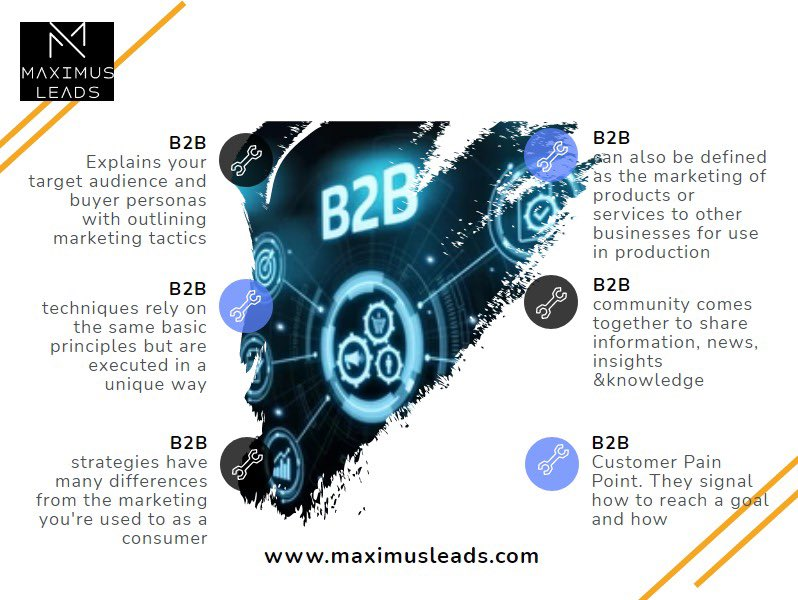 #B2Bmarketing refers to the techniques and #best practices used by companies that sell directly to other #businesses  Let's Get Connected @maximus_leads CEO @anshuishere Anshu Chugh #Entrepreneurs #business #socialmedia #contentmarketing #entrepreneur #technology #ecommerce #tech https://t.co/MoUmHYkgEH