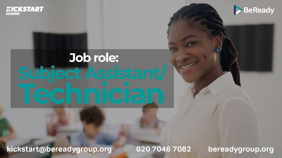 Could your school benefit from a Kickstart-funded Subject Assistant? This role provides support for teachers & pupils in a specific subject (e.g. Food Technology or Design Technology). For full job description or to register interest head to the website: https://t.co/FcETy5RUAy. https://t.co/cOlP5dO1xX