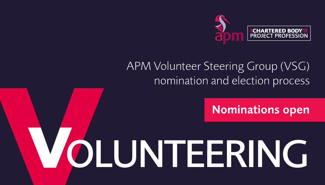 If you are a full or fellow individual APM member and would like to help shape the future of volunteering in APM, we have two vacancies on the APM Volunteers' Steering Group. Find out how to nominate via: https://t.co/jGwJ8eln3d Nominations close 11 March 2021. #projectmanager https://t.co/ZdwWep4dRY