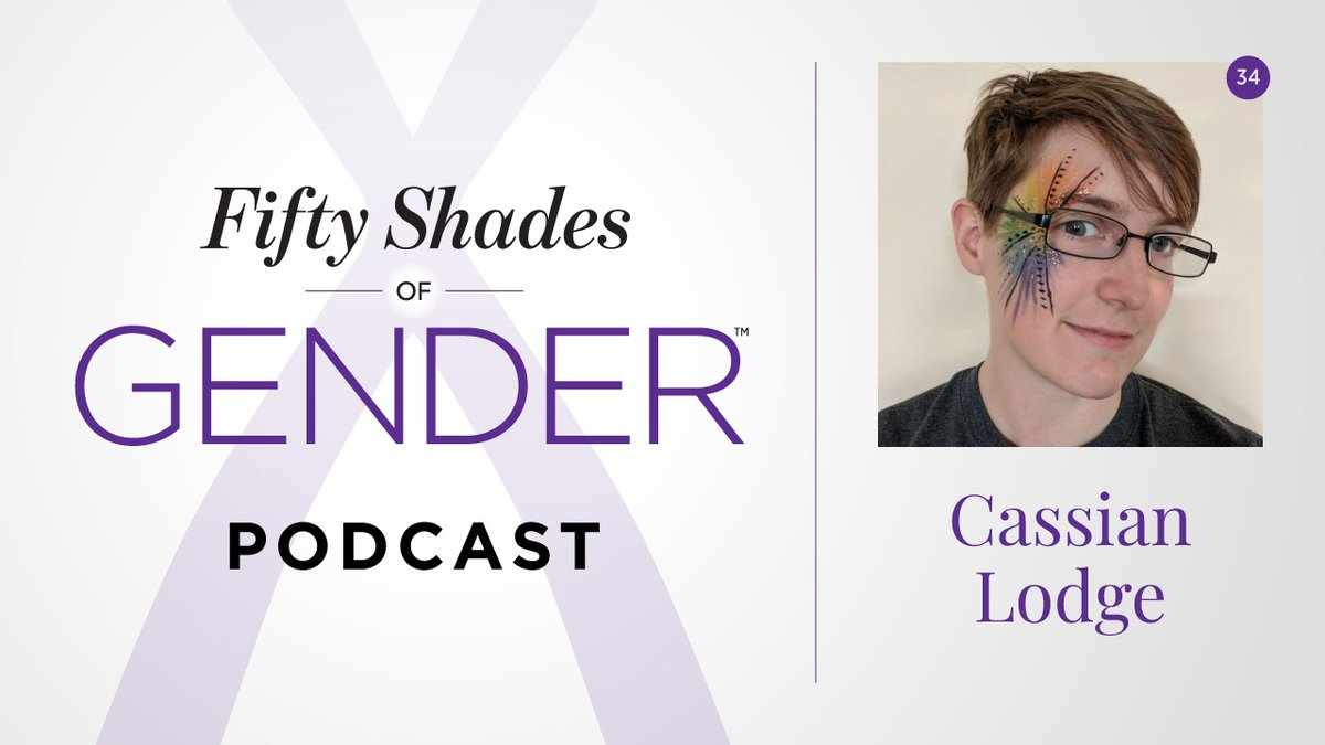 In episode 34 of the #podcast, Esther has a conversation with Cassian Lodge (@cassolotl), who identifies as non-binary and #agender. Find out what they've learned from running the @gendercensus.    #FiftyShadesofGender #50ShadesofGender #nonbinary