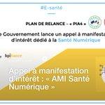 """Veille #Esanté : Le @gouvernementFR lance un appel à manifestation d'intérêt dédié à la """"Santé Numérique"""" #FranceRelance  L'AMI est ouvert aux entreprises, startups de la #HealthTech , laboratoires de recherche et établissement de santé  📌 : https://t.co/XGwGpV93DT  #hcsmeufr"""