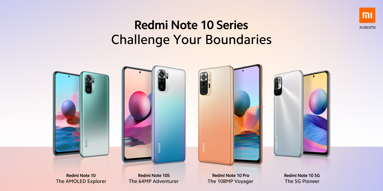 Redmi Note 10 Series options